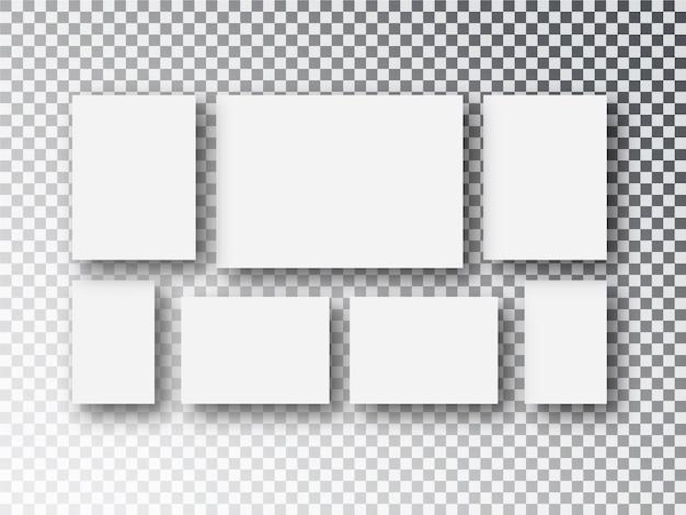 Puste białe płótno papierowe lub ramki do zdjęć