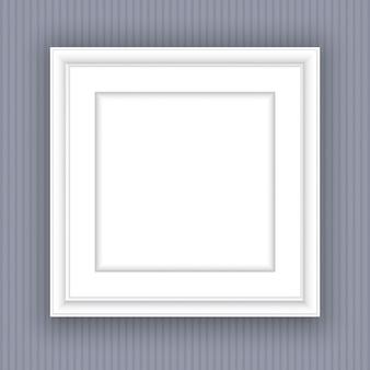 Puste białe ramki na zdjęcia projektowe