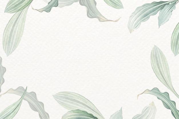 Puste białe tło liściaste