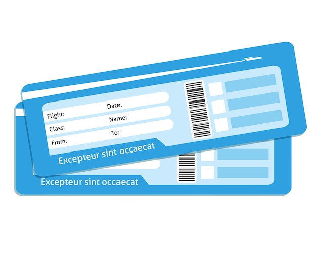 Puste bilety lotnicze
