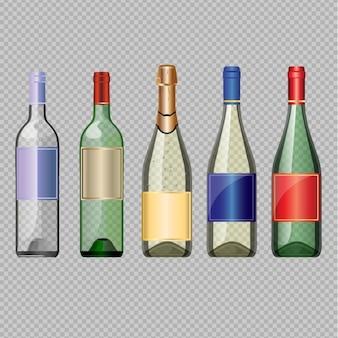Puste butelki wina