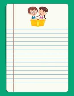 Puste dokumenty informacyjne dla edukacji dzieci