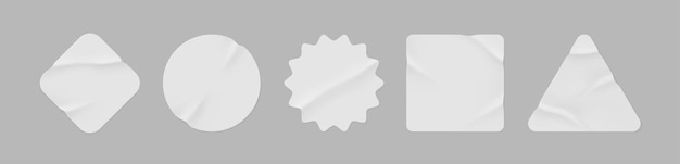 Puste etykiety o różnych kształtach