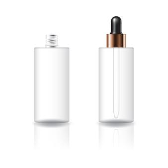 Puste jasne butelki butli kosmetycznych
