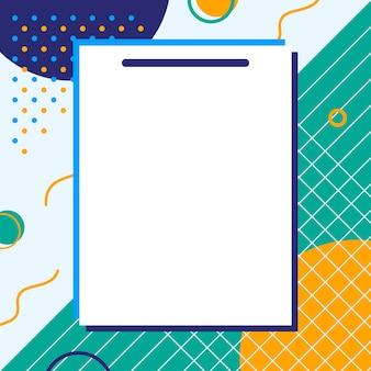Puste kartki z kolorowym tłem, gotowe do wiadomości. ilustracja