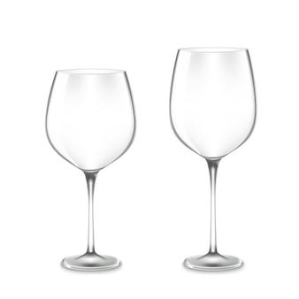 Puste kieliszki do wina
