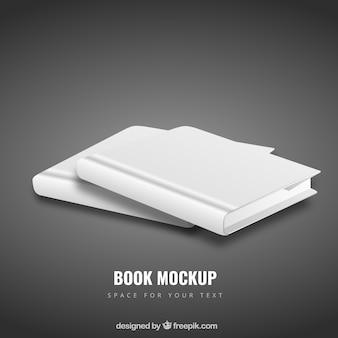 Puste książki makieta