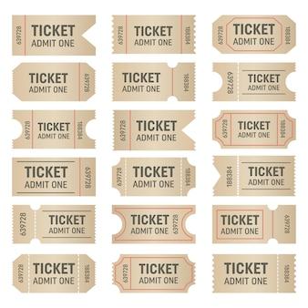 Puste kształty biletów.