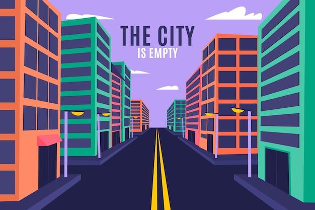 Puste miasto w czasie pandemii