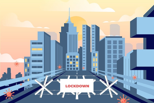 Puste miasto z powodu pandemii koronawirusa