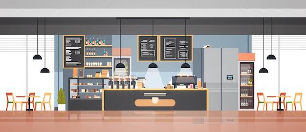 Puste nowoczesne wnętrze kawiarni