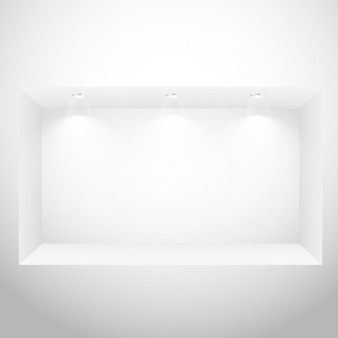 Puste okno wyświetlacz oświetlenie punktowe