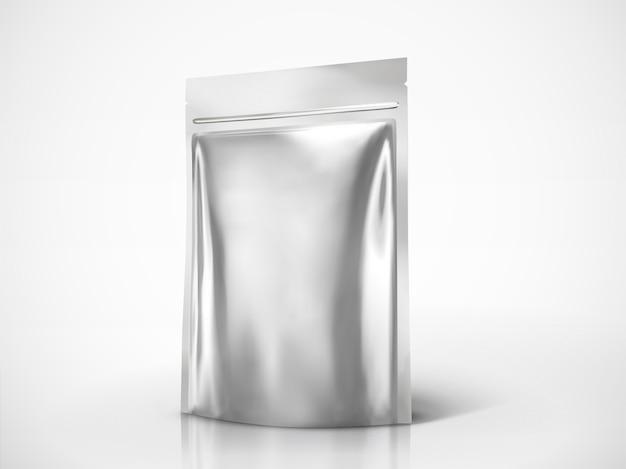 Puste opakowanie doy, pakiet w kolorze srebrnym do zastosowań w ilustracji