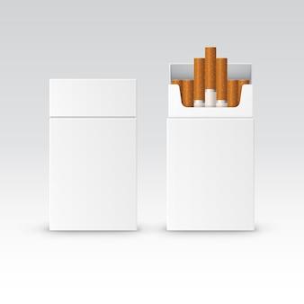 Puste opakowanie opakowanie papierosów