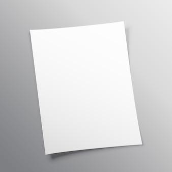 Puste papieru makieta konstrukcji wektora