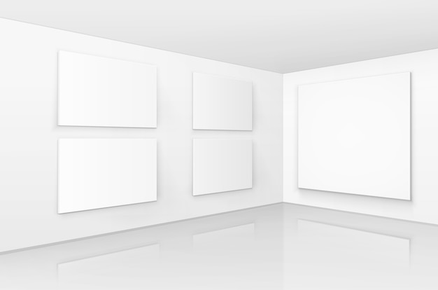 Puste puste białe makiety plakaty ramki do zdjęć
