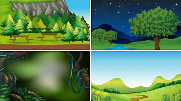 Puste, puste krajobrazowe sceny przyrodnicze lub tło