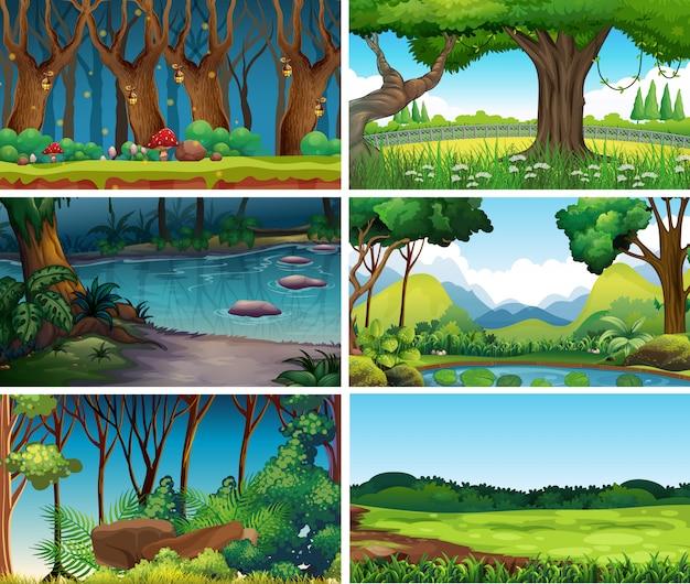 Puste, puste sceny krajobrazowe lub tło