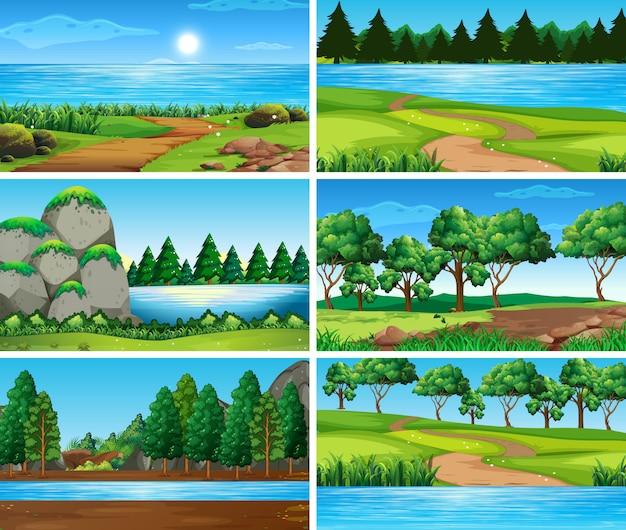 Puste, puste sceny krajobrazowe