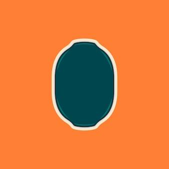 Puste ramki kształtu elipsy kształt lub szablon odznaka logo