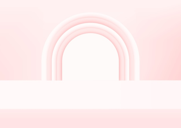 Puste studio różowe tło do wyświetlania produktu.