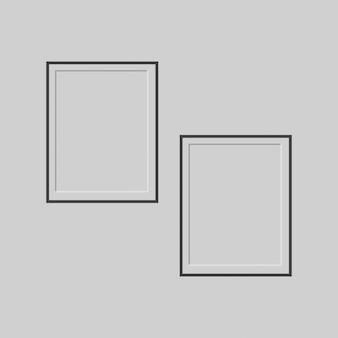 Puste szablonu ramki obrazu samodzielnie na ścianie