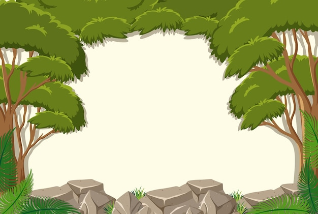 Puste tło z elementami drzewa dżungli