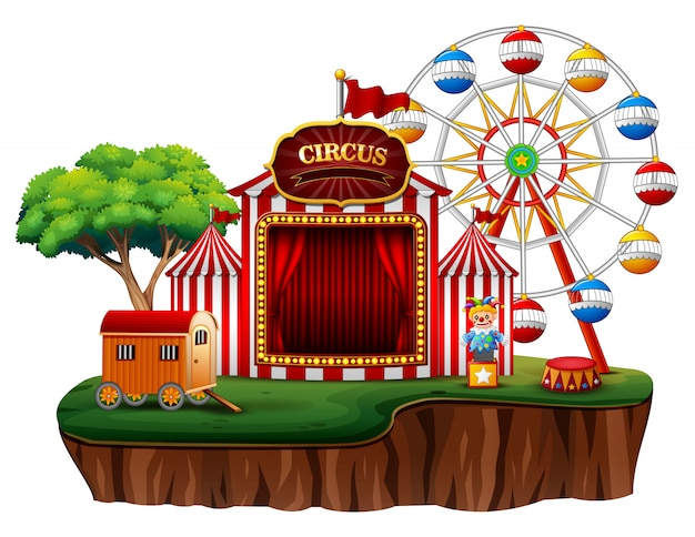Puste wesołe miasteczko parku rozrywki cyrk