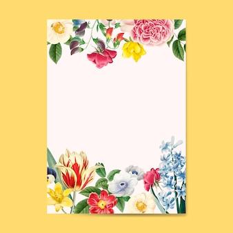 Puste zaproszenie kwiatowy kopia przestrzeń