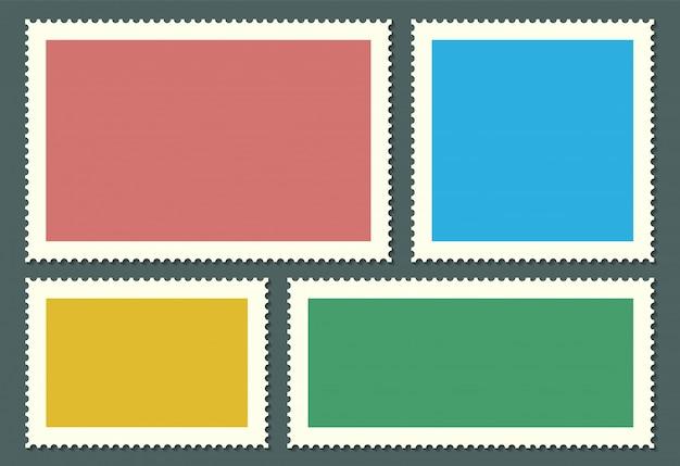 Puste znaczki pocztowe dla poczty, kartka pocztowa.