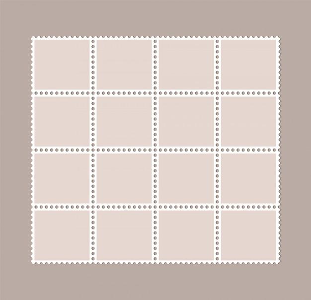 Puste znaczki pocztowe. perforowane znaczki pocztowe.