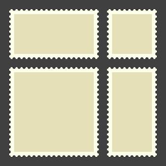 Puste znaczki pocztowe