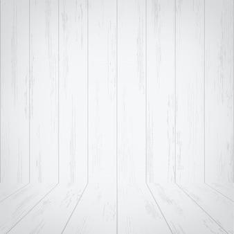 Pusty biały drewniany pokój przestrzeni tło.