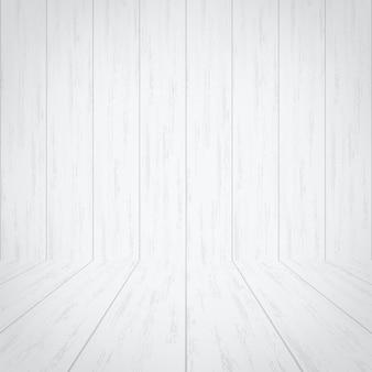 Pusty biały drewniany pokoju tło.