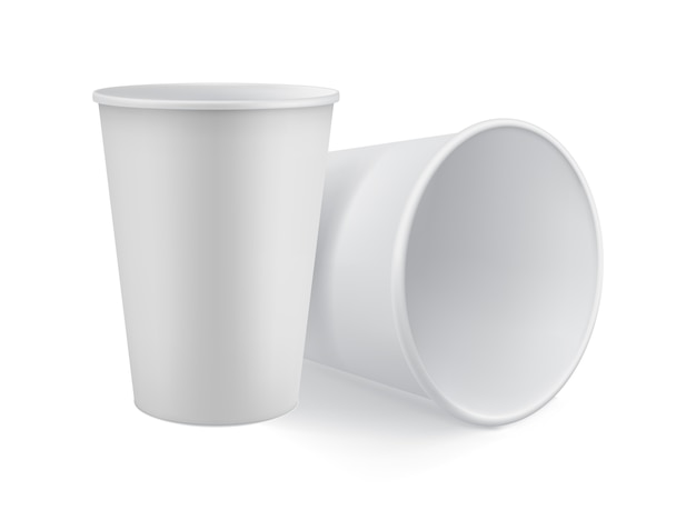 Pusty biały model 3d zabrać kubek