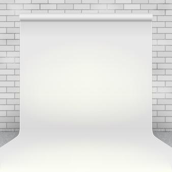 Pusty biały papier fotograficzny tło studio