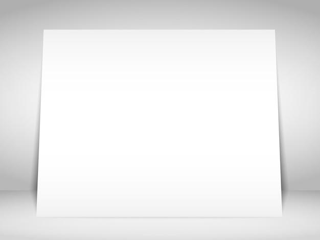 Pusty biały plakat na ścianie