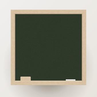 Pusty blackboard z kredą i gumką