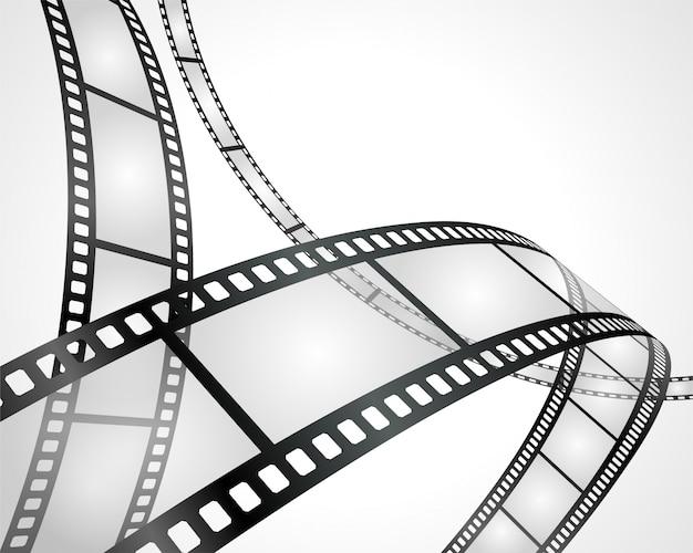 Pusty Film Na Białej Tło Ilustraci Premium Wektorów