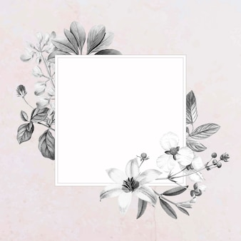 Pusty kwadratowy kwiatowy wzór ramki