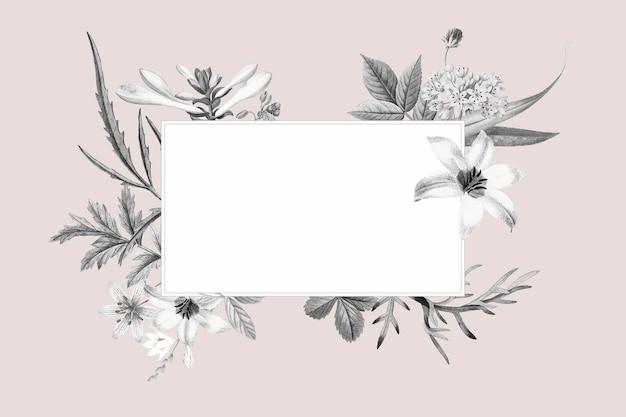 Pusty kwiatowy wzór ramki