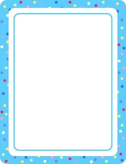 Pusty niebieski szablon banera pionowej ramki