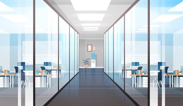Pusty obszar coworkingowy brak ludzi otwarta przestrzeń ilustracja wnętrza nowoczesnego biura