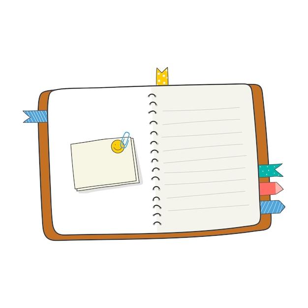 Pusty otwarty dziennik