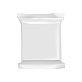 Pusty pakuje szablon odizolowywający na bielu.