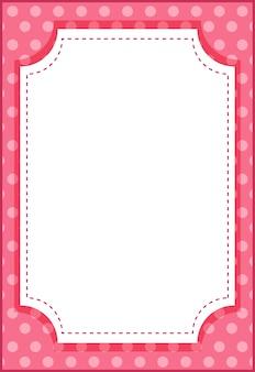 Pusty pionowy szablon transparentu w stylu ośmiokąta w stylu cartoon