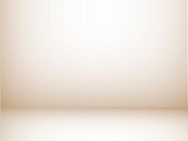 Pusty pokój typu studio z jasnobrązową ścianą