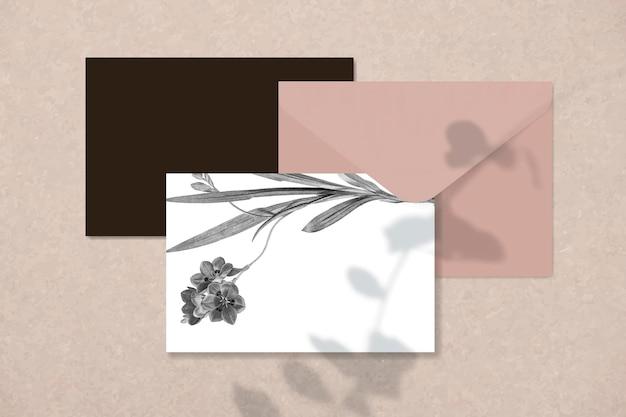 Pusty projekt karty kwiatowy
