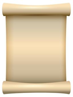 Pusty pusty papier przewiń papirus ilustracja na białym tle