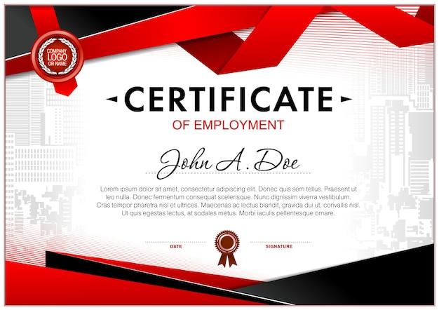 Pusty szablon certyfikatu
